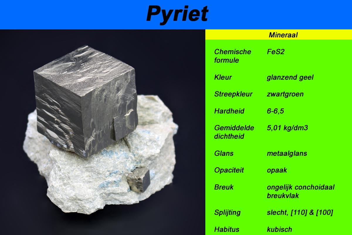 Aan de hand van o.a. Pyriet vertellen Gerben en Ruben jullie meer over mineralogie